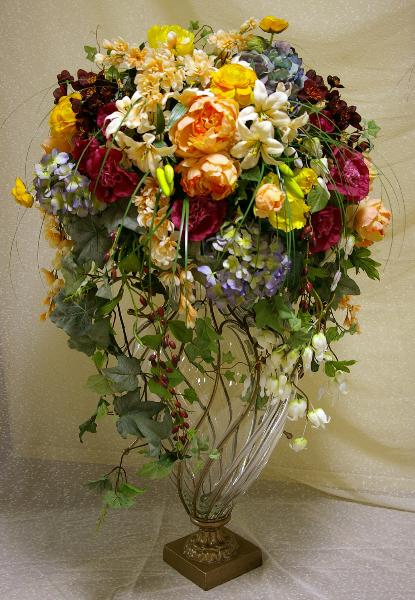Искусственная композиция из цветов своими руками